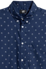Short-sleeve shirt Regular fit - Dark blue/Spotted - Men | H&M 3
