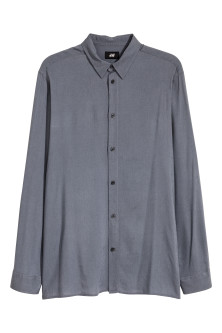 Linen-blend shirt Regular fit