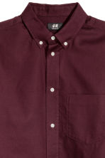 Oxford shirt Regular fit - Burgundy - Men | H&M 3