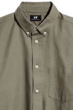 Camisa Oxford Regular fit - Verde caqui - HOMBRE | H&M ES 3