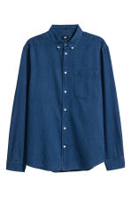 Denim shirt Regular fit - Dark denim blue - Men | H&M CN 2