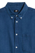 Denim shirt Regular fit - Dark denim blue - Men | H&M CN 3