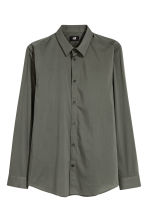 Stretch shirt Slim fit - Khaki green - Men | H&M 2