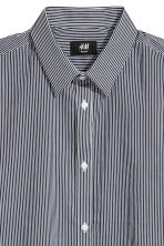 Stretch shirt Slim fit - Dark blue/White striped - Men | H&M CN 3