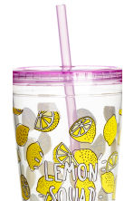 Mug with a straw - Purple - Ladies | H&M 2