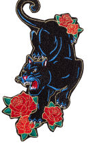 2-pack fabric patches - Black/Panther -  | H&M CN 2
