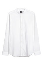 Collarless Shirt Regular fit - White - Men | H&M CA 2