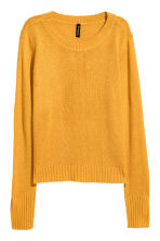Knitted jumper - Mustard yellow - Ladies | H&M 2