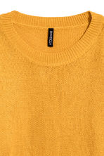 Knitted jumper - Mustard yellow - Ladies | H&M 3