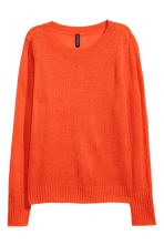 Knitted jumper - Bright red - Ladies | H&M GB 2