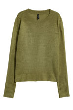 Knitted jumper - Green - Ladies | H&M 2