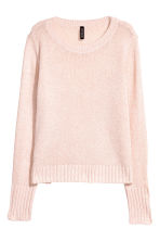 Knitted jumper - Powder pink - Ladies | H&M CN 2