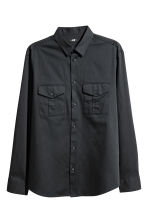 Utility shirt Regular fit - Black - Men | H&M CN 2