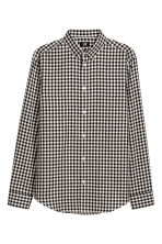 Shirt Regular fit - Black/White checked - Men | H&M CN 2