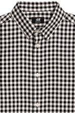 Shirt Regular fit - Black/White checked - Men | H&M CN 3