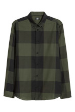 Khaki green/Black checked
