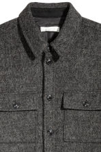 Wool-blend shirt jacket - Dark grey marl - Men | H&M CN 3