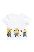 Printed T-shirt - White/Minions - Kids | H&M 3
