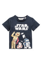 Printed T-shirt - Dark blue/Star Wars - Kids | H&M 2