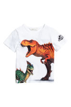 T-shirt com estampado - Branco/Jurassic World -  | H&M PT 2