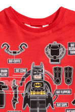 Printed T-shirt - Red/Lego - Kids | H&M 2