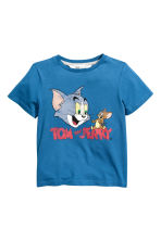 Printed T-shirt - Blue/Tom and Jerry -  | H&M 1