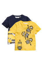 2-pack T-shirts - Yellow/Minions - Kids | H&M CA 2