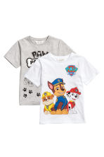 Set van 2 T-shirts - Wit/Paw Patrol - KINDEREN | H&M BE 2