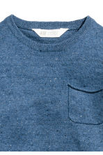 Fine-knit cotton jumper - Blue marl -  | H&M 3