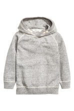 Knitted hooded jumper - Grey marl - Kids | H&M 2
