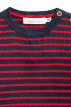 Fine-knit cotton jumper - Red/Blue striped - Kids | H&M 3