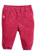 Lined pull-on trousers - Raspberry red - Kids | H&M 1