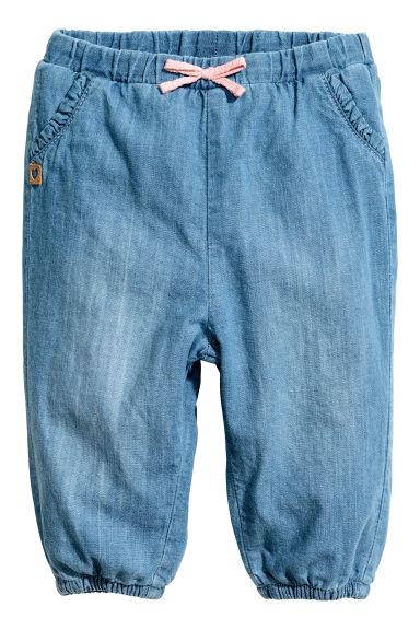 Lined pull-on trousers - Denim blue - Kids | H&M 1