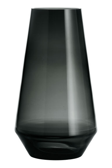 Glass vase - Anthracite grey - Home All | H&M CN 1