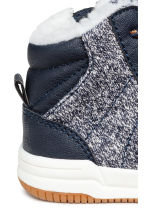 Warm-lined trainers - Dark blue -  | H&M 4
