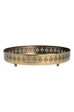 Round metal tray - Gold - Home All | H&M CN 1