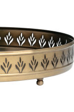 Round metal tray - Gold - Home All | H&M CN 3