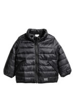 Lightly padded jacket - Black -  | H&M CA 1