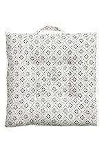 Cotton seat cushion - White - Home All | H&M CA 2