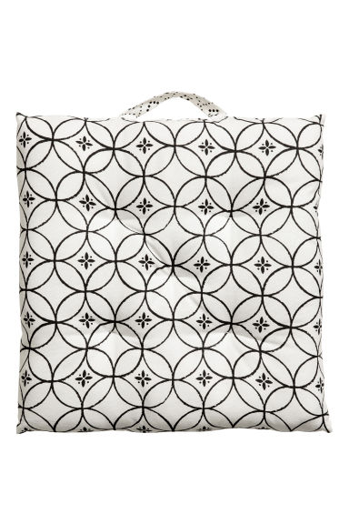 Cotton seat cushion - White - Home All | H&M CA 1