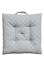 Cotton seat cushion - Light grey - Home All | H&M CA 2