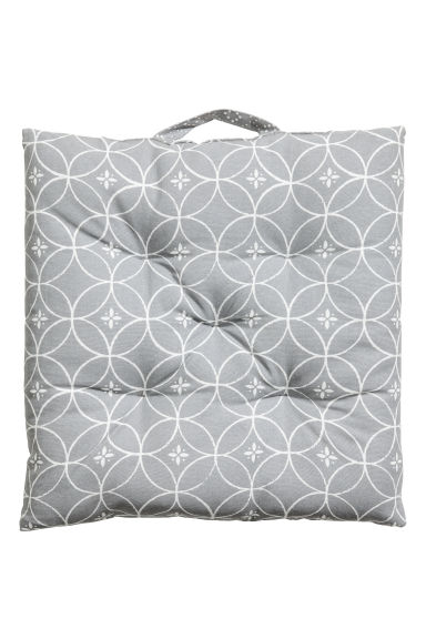 Cotton seat cushion - Light grey - Home All | H&M CA