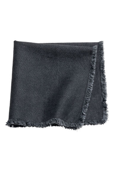 Fringe-trimmed napkin - Anthracite grey - Home All | H&M GB