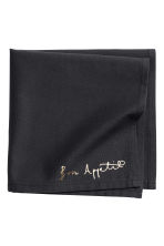 Text-print cotton napkin - Anthracite grey - Home All | H&M CN 2