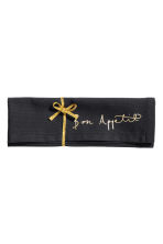Text-print cotton napkin - Anthracite grey - Home All | H&M CN 1
