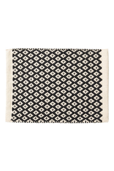 Jacquardgeweven placemat - Gebroken wit/antracietgrijs - HOME | H&M BE 1