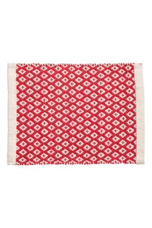 Jacquard-weave table mat