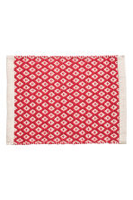 Jacquardgeweven placemat - Gebroken wit/rood - HOME | H&M BE 1