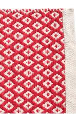 Jacquardgeweven placemat - Gebroken wit/rood - HOME | H&M BE 2