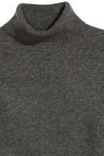 Cashmere polo-neck jumper - Dark grey - Ladies | H&M CN 3